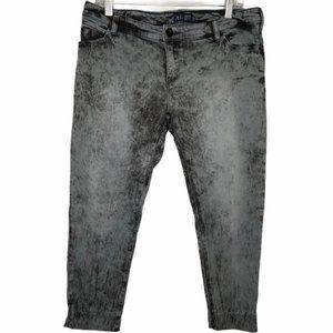 Armani Jeans black acid wash cropped jeans